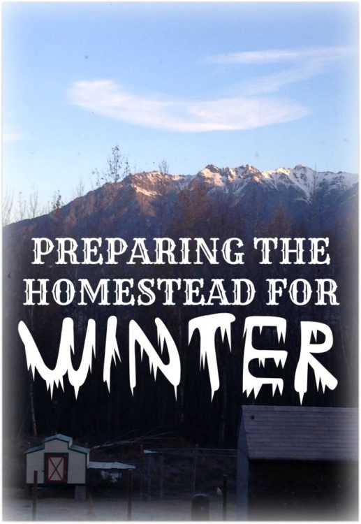 winterizing your homestead
