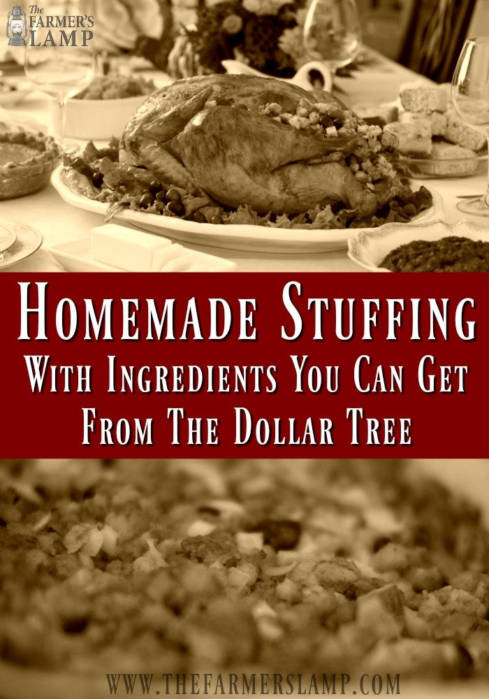 hommade stuffing- dressing- thanksgiving- homemade- dollar tree