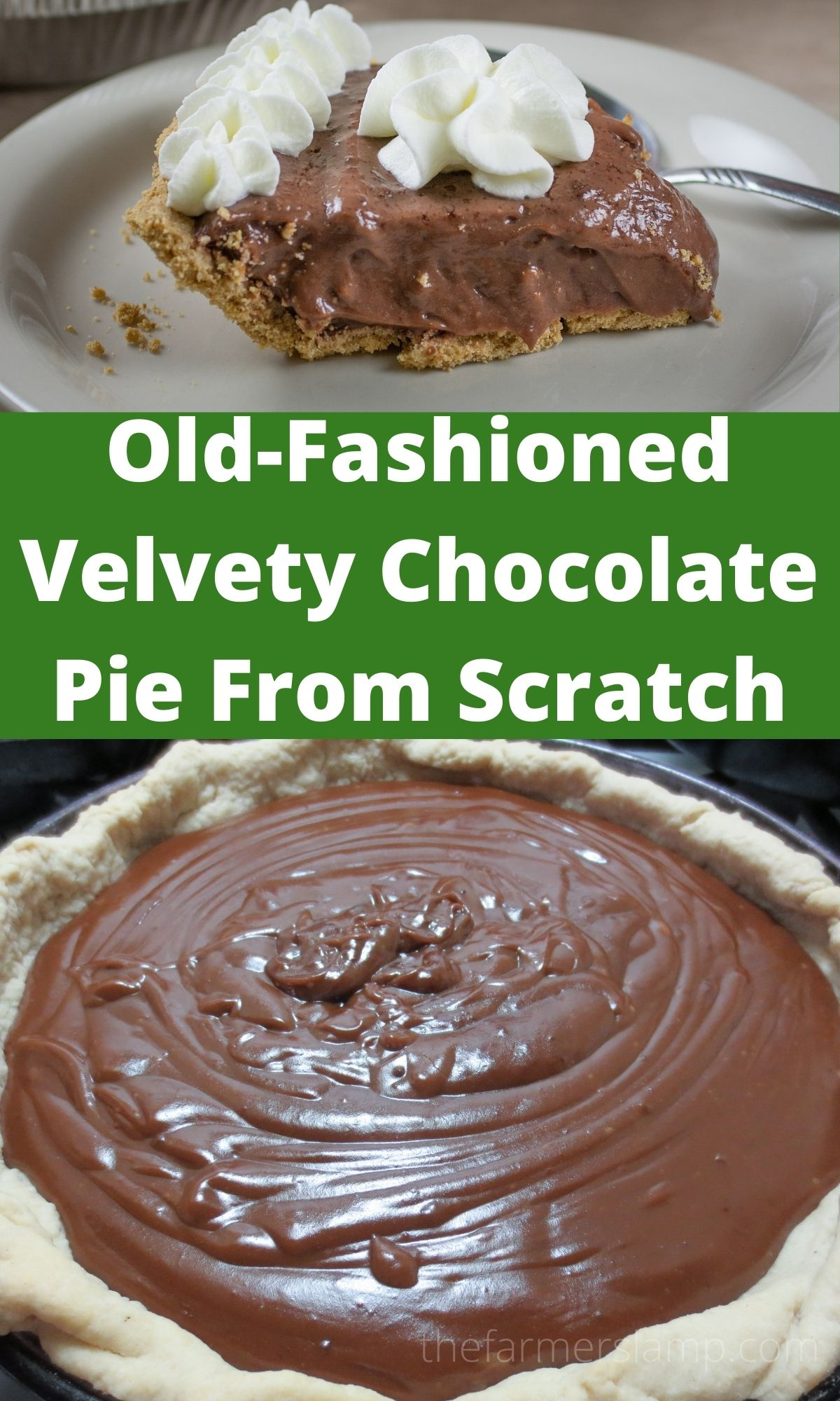 Homemade Old-fashioned Chocolate Pie Recipe from Scratch