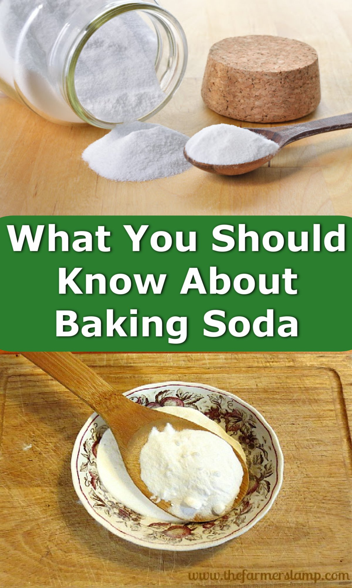 What you should know about baking soda pin - baking soda in jar and bowl